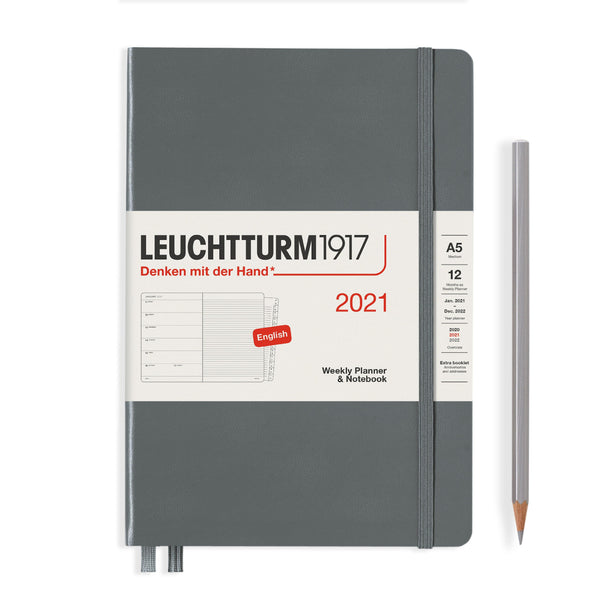 Leuchtturm Weekly Planner and Notebook Medium Hardcover 2021 - Laywine's