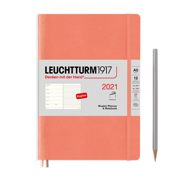 Leuchtturm Weekly Planner and Notebook Medium Softcover 2021 - Laywine's