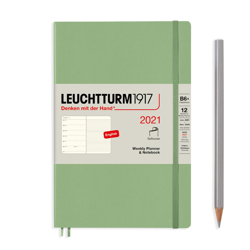 Leuchtturm Weekly Planner and Notebook Paperback 2021 - Laywine's