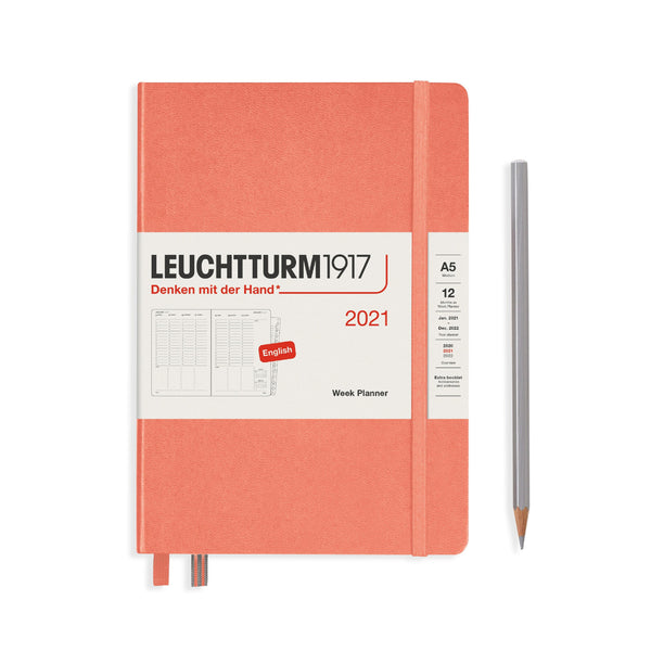 Leuchtturm Week Planner Vertical Medium Hardcover 2021 - Laywine's