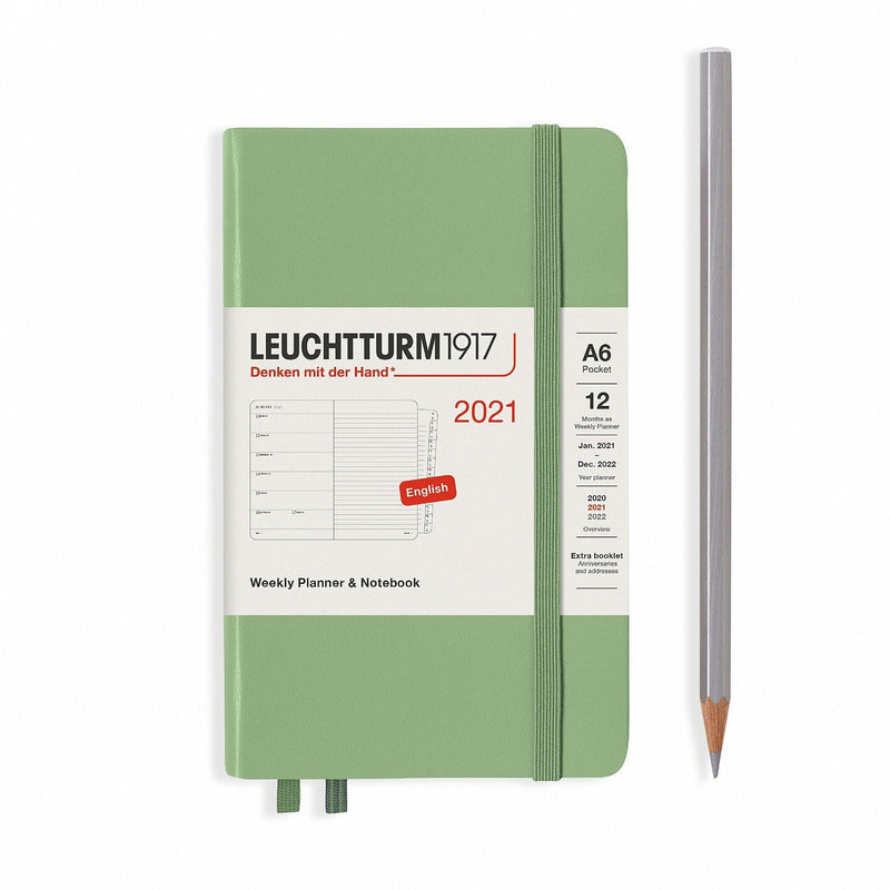 Leuchtturm Weekly Planner and Notebook Pocket Hardcover 2021 - Laywine's