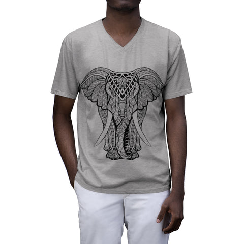 Mandala Elephant Men's V-Neck Tee - Self Verve Health