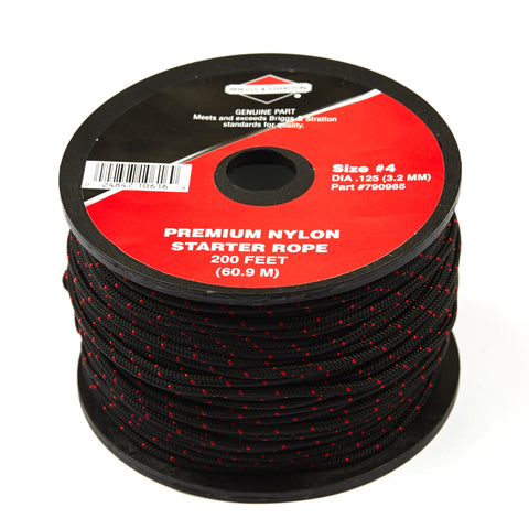 Briggs & Stratton 790965 Starter Rope - 200' spool, size #4 (3.17 mm)