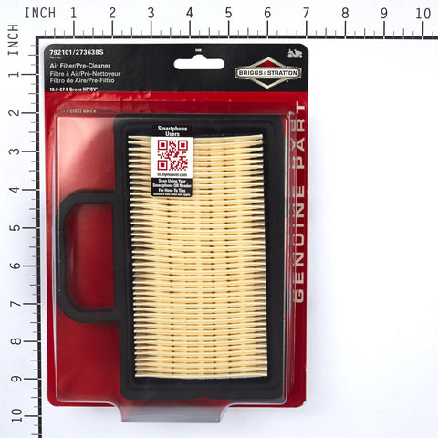 Briggs and Stratton 5408K Air Filter with Pre-Cleaner (DIY Package Version of 792101)
