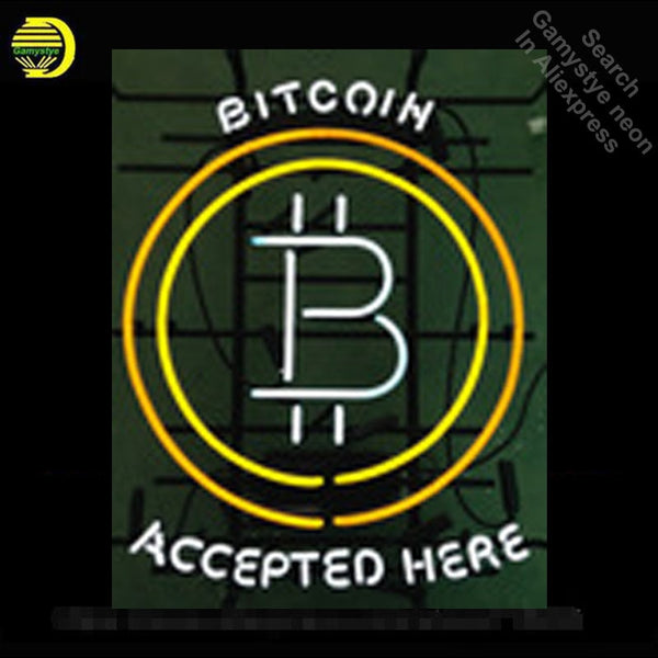 Bitcoin Accepted Here Neon Sign