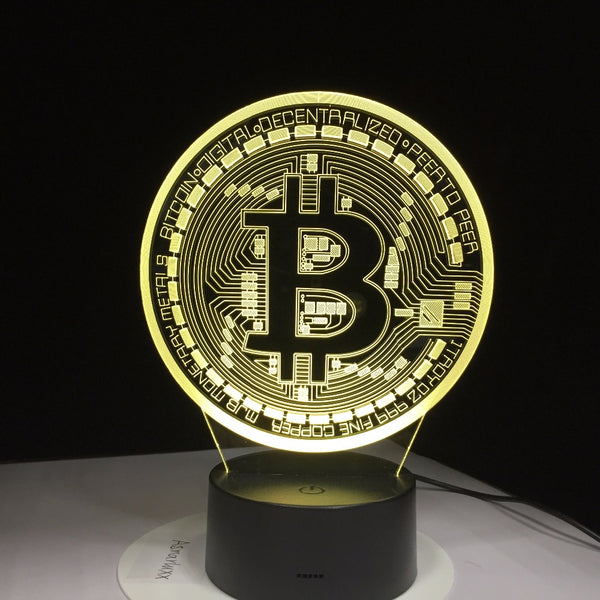 Remote Control 3D LED Bitcoin Sign