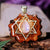 Moonstone with Gold Merkaba