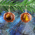 Yellow Tiger's Eye Pendant Earrings