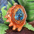 Shattuckite with Gold Seed of Life