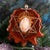 Mexican Fire Opal with Gold Merkaba and Back Om