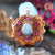 Australian Blue Opal with Silver Seed of Life Multi-Glow