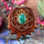 Malachite with Gold Seed of Life and Back Om