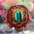 Malachite with Gold Seed of Life