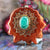 Malachite with Gold Crown (7th) Chakra