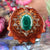Malachite with Gold Sri Yantra