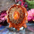 Red Sunstone with Gold Crown (7th) Chakra