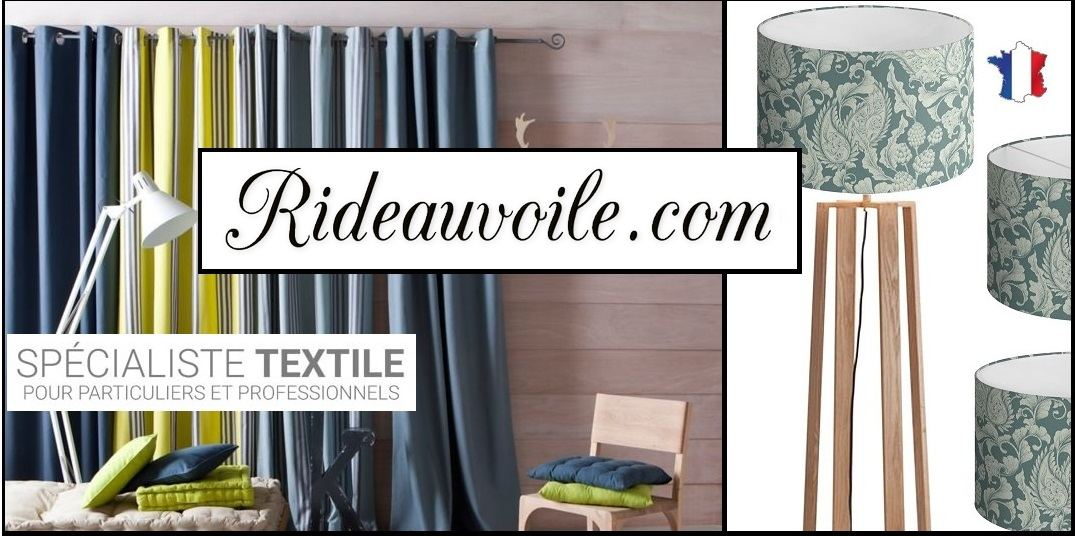 Rideauvoile store shop online french fabrics meter upholstery furnishing drapes curtain
