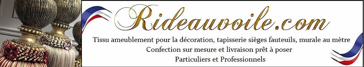rideauvoile.com shop store decorating luxury home room curtain french fabrics meter