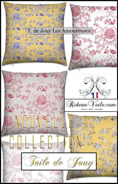 best Toile de Jouy french fabrics upholstery decorating home tissu ameublement rideau mètre