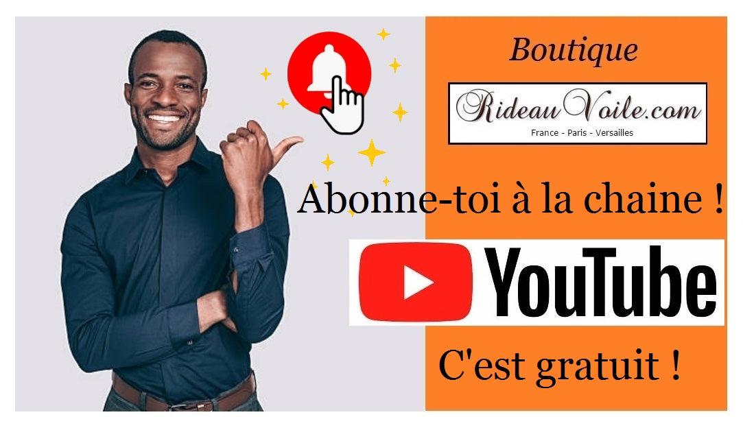 abonne toi chaine youtube boutique rideau tissu mètre upholstery fabrics meter video promo discount