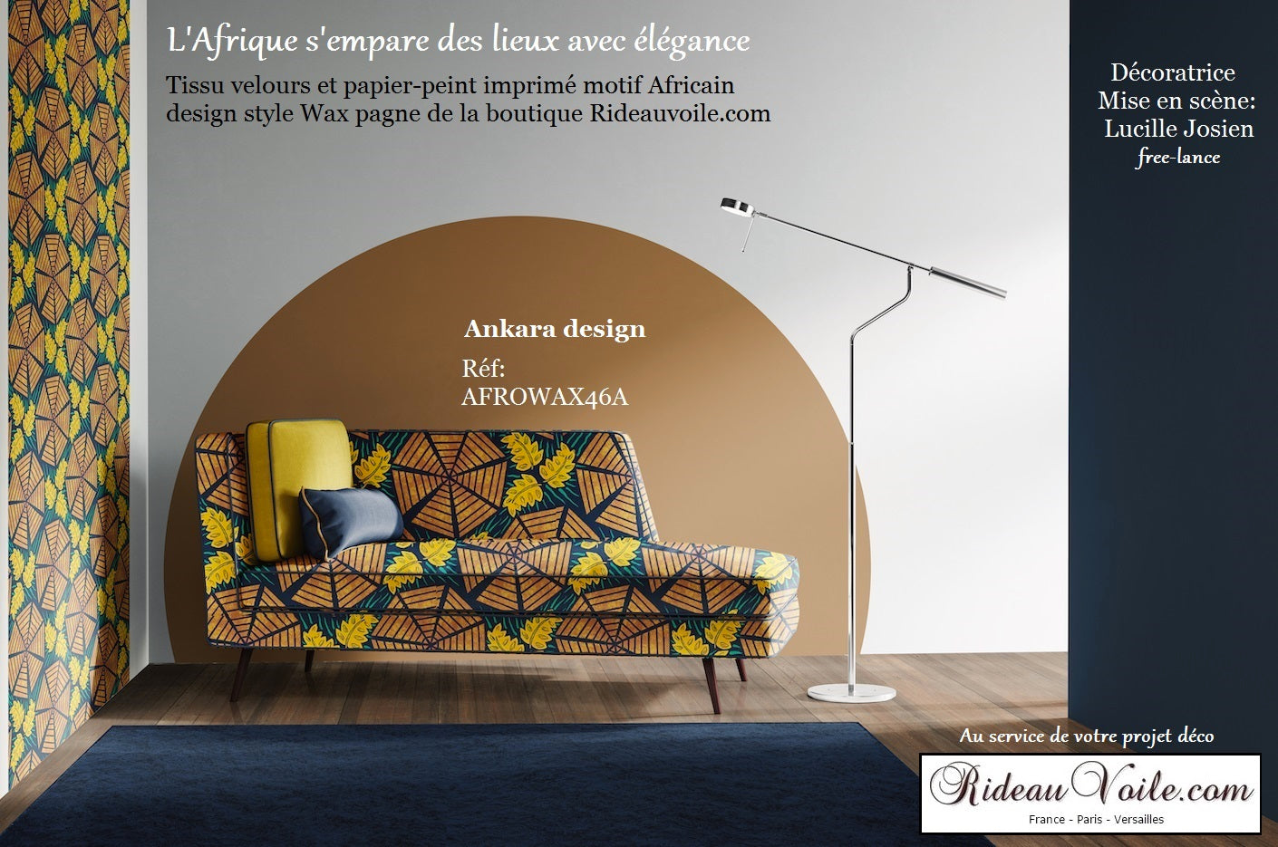 Rideauvoile  French country editor fabrics meter furnishing Ankara luxury interior home tapestry upholstery decorating home