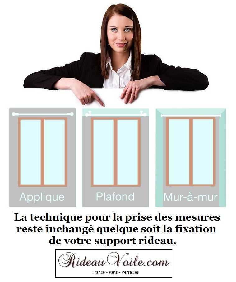 poser tringle barre support rideau comment prendre mesure dimension hauteur largeur