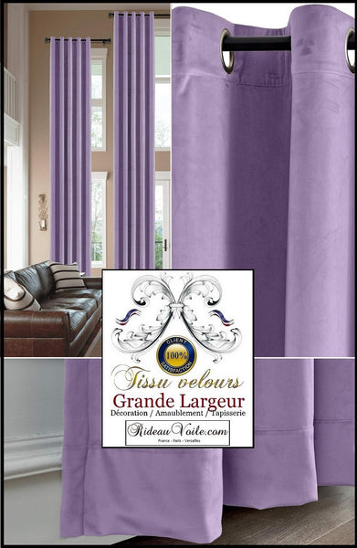 Rideauvoile | Tissus velours violet lilas éditeur fabricant français textile d'ameublement luxe décoration aménagement rénovation décoratrice architecte intérieur velours grande largeur. Velvet fabrics editor manufacturer of luxury furnishing french textiles home interior high-end velvet. Hotel project.
