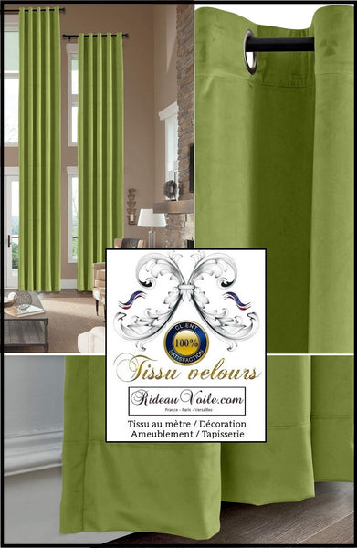 Rideauvoile | Tissus velours vert éditeur fabricant français textile d'ameublement luxe décoration aménagement rénovation décoratrice architecte intérieur velours grande largeur. Velvet fabrics editor manufacturer luxury furnishing french textiles home interior high-end velvet upholsterer Hotel.