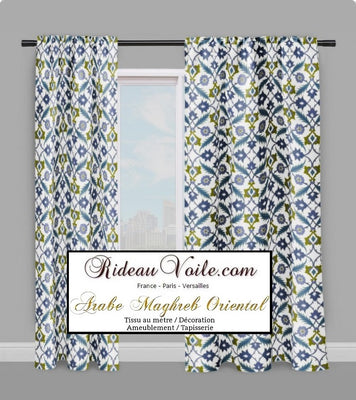 tissu ameublement décoration mètre mosaïque Maghreb oriental motif florale Arabe rideau couette tapisserie Maghreb orientale pattern flowers Arabic fabric upholstery meter curtain drapes tapestry duvet cover.