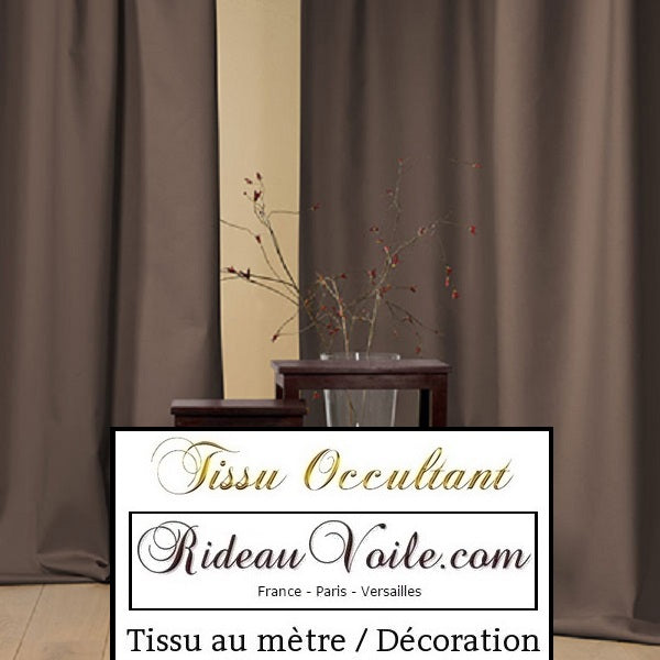 Tissu marron occultant rideau mètre obscurcissant blackout fabrics drapes curtain brown