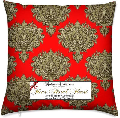 Tissu ameublement mètre rouge Baroque fabric meter print flower Tessuto barocco