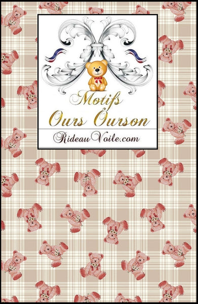 Boutique Paris Versailles tissu décoration agencement chambre enfant idée cadeau naissance motif ours ourson animal mètre rideau couette - Fabric decoration home furnishings bedroom child baby pattern bear cub cubicle meter curtain duvet birth.