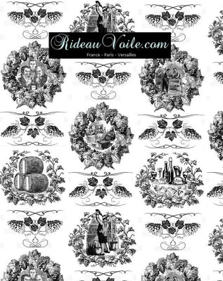 Tissu Baroque motif Toile de jouy décoration tapisserie mètre rideau voilage. French fabrics decorating home yard meter curtain upholstery tapestry. Stoff Mete Vorhangstoff rido Empire. Gardib stof ved måleren. Tela de cortina metro. Verhokangas kangas mittarilla.