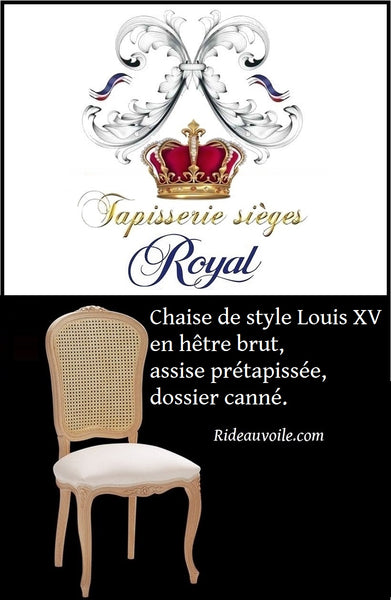 Boutique Paris Versailles spécialiste meubles shabby chic style français style Louis XV en hêtre brut, assise pré-tapissée, dossier canné à personnaliser. Meuble mobilier haut gamme French Louis XVI Style Canape Sofa Settee custom. Vintage Used French Country Seating.