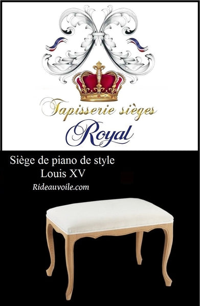 Siège piano style Louis XV à personnaliser French Louis Style Canape Sofa Settee