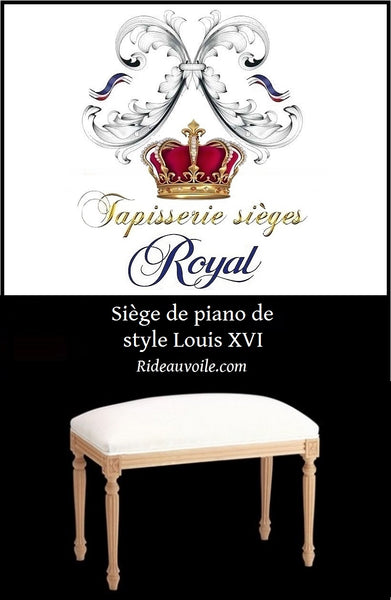 Siège piano style Louis XVI à personnaliser French Louis XVI Style Canape Sofa Settee