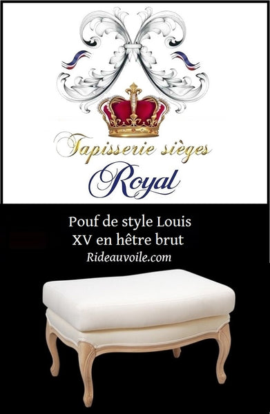 Boutique Rideauvoile.com spécialiste du tissu ameublement et tapisserie pour siège, Banquette siège de piano de style Louis XVI prétapissée à personnaliser. Meuble mobilier haut gamme French Louis XVI Style Canape Sofa Settee custom. Vintage Used French Country Seating.