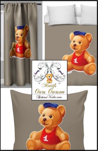 Boutique Paris Luxe Tissu décoration ameublement chambre enfant bébé motif ours ourson animal mètre rideau couette idée cadeau naissance - Fabric decoration home furnishings bedroom child baby pattern bear cub cubicle meter curtain duvet idea gift birth shop store Paris luxury