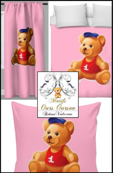 Boutique Paris Luxe Tissu décoration ameublement chambre enfant bébé motif ours ourson animal mètre rideau couette idée cadeau naissance - Fabric decoration home furnishings bedroom child baby pattern bear cub cubicle meter curtain duvet cover  idea gift birth shop store Paris luxury