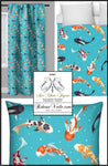 Tissu ameublement Japonais rideau carpes poisson Koï Fabric Japanese meter fish Koï decorating home