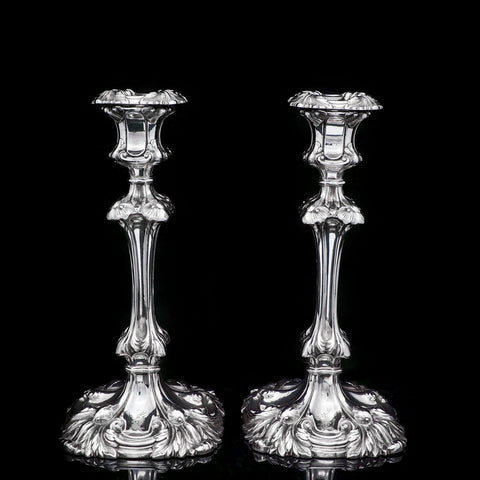 A Marvelous pair of Sterling Silver Georgian Candlesticks-Henry Wilkinson & Co 1837