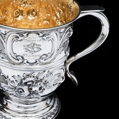 Georgian Solid Silver Loving Cup