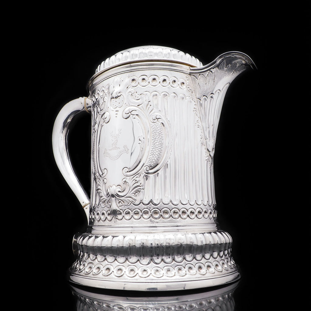 Antique Solid Silver Flagon Hicks Family