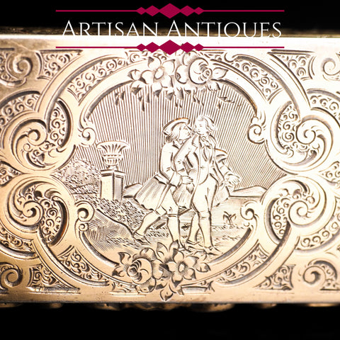 French Silvergilt Engraved Snuff Box