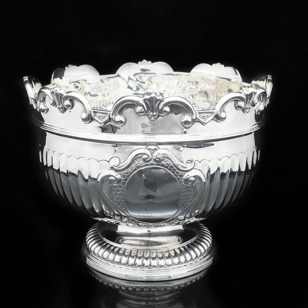 A solid silver Monteith Bowl