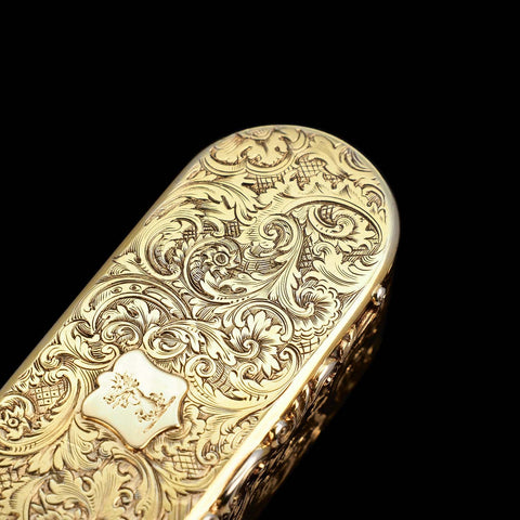 Silver Gilt Snuff Box Charles Rawlings & William Summers