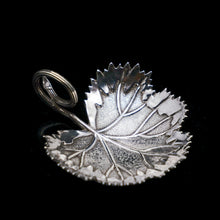 Load image into Gallery viewer, A Georgian Solid Silver Tea Caddy Spoon in Grape Leaf Form - Taylor & Perry 1834 - Artisan Antiques