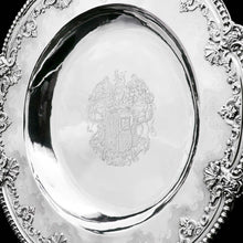 将图片加载到图库查看器中, RESERVED - A Magnificent Georgian Large Solid Silver Dish (Britannia Silver) - Arms of 1st Duke of St Albans (Charles Beauclerk) - 1714 - Artisan Antiques