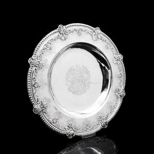 RESERVED - A Magnificent Georgian Large Solid Silver Dish (Britannia Silver) - Arms of 1st Duke of St Albans (Charles Beauclerk) - 1714 - Artisan Antiques