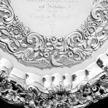 Load image into Gallery viewer, A Magnificent Georgian Sterling Silver Tray/Salver with Military Lieutenant Interest - James Fray 1833 - Artisan Antiques